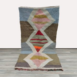 Vintage kilim rug 4x6, Kilim area rug, Berber kilim rug, Moroccan kilim rug.