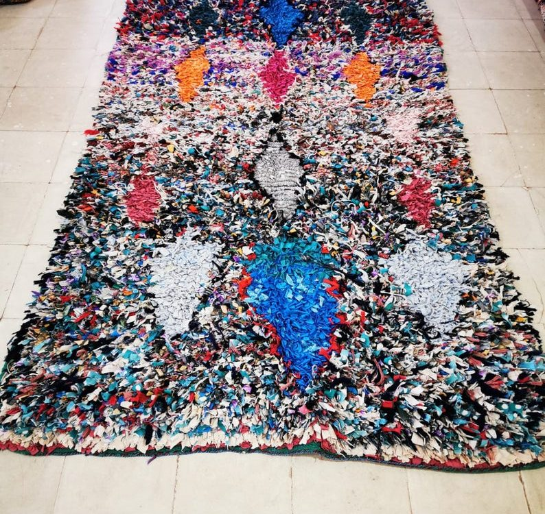 Berber Boucherouite Vintage Carpet