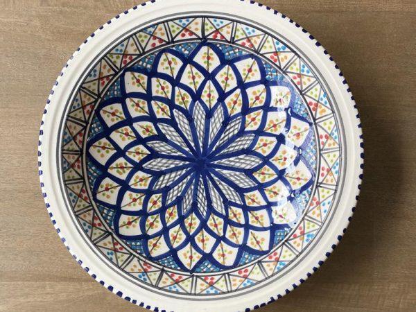 Fruit Bowl Ceramic, Large Serving Bowl, Pasta Bowl, Salad Serving Bowl, Large Ramen Bowl, Tunisian Pottery, Mother's Day Gift