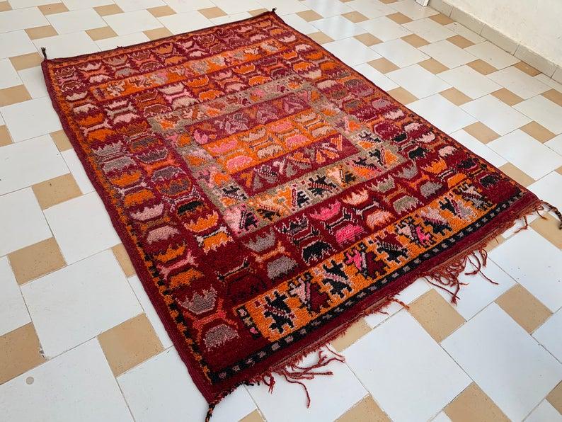 Boujaad Rug , Morocco Rug , Moroccan Rug, Wool Rug, Boujad Rug, Boujaad Moroccan Rug, Boujaad, Boujad, Vintage Authentic Boujad Rug