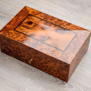 keepsake box - wooden keepsake box for dad - Solid wood keepsake box - handmade personalised keepsake box - exotic wood burr storage