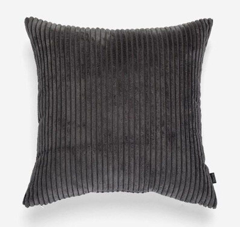 Corduroy Flocking Velvet Pillow Case / Cushion Case Cover for Home Decorative, living Room, Bed Room, Sofa Bed , Farmhouse Decor