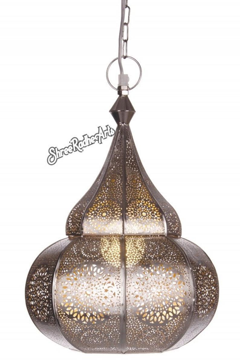 Moroccan Lamp Handmade Modern Turkish Vintage Golden Ceiling Light Home Lantern Lantern Pendant Oriental Arabian Hanging Lamp Outdoor Lamp