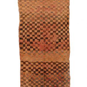 5x10 feet Vintage Boujad Rugs Brown Gray Ethnic Geometric Large berber handmade rug Wool