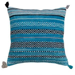 Blue Kilim Cushion Cover, Moroccan Pillow Cover, Teal Blue Pillow, Home Accessories, Home Furnishings, Boho Pillow