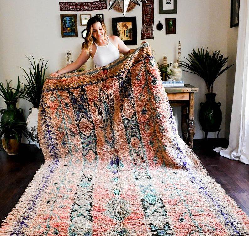 Palermo Vintage Berber Rug, Moroccan Rug, Beni Ourain, Wool Rug, Bohemian, Beni Mguild Rug, Boho Rug, Handmade