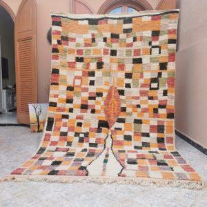 5.6 X 9 Vintage berber Boujad Rug - Area Rug - Moroccan rug - Vintage Rug - Berber Carpet- Oriental Carpet -costco area rugs - 3d rugs -