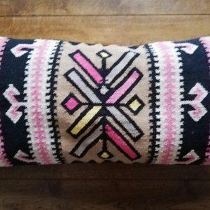 Large Lumbar cushion in the UK, geometric cushion, ethnic cushion, Moroccan cushion, kilim cushion in the UK, Bohemian cushion cover