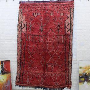 Vintage moroccan rug , boujaad rug, berber handknotted wool rug, tribal boho antique carpet T411