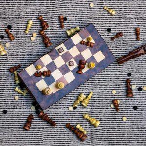 Wooden chess game, chess board , chess board,thuya wood, handmade chess, Moroccan chess board,