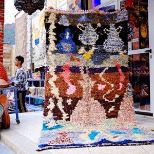Birthday gift 30th,Boucherouite Rug,Moroccan Rug,Azilal Rug,Vintage Boucherouite rug, 8.5ft X 4.1ft berber boucherouite rug, boho rug