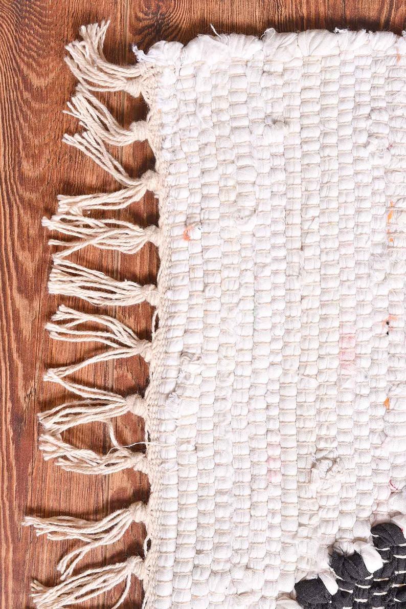 Bursa Recycled Cotton Kilim Boho Rug