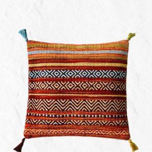 Moroccan Kilim Cushion Cover, Moroccan Red Pillow, Decorative Cushions, Housewarming Gift, Boho Decor, Red Kilim, Tribal Cushion
