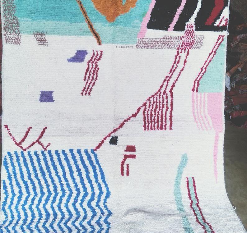 Boujad rugs, Floor And Rugs, Handmade Moroccan Rug berber 100% Wool