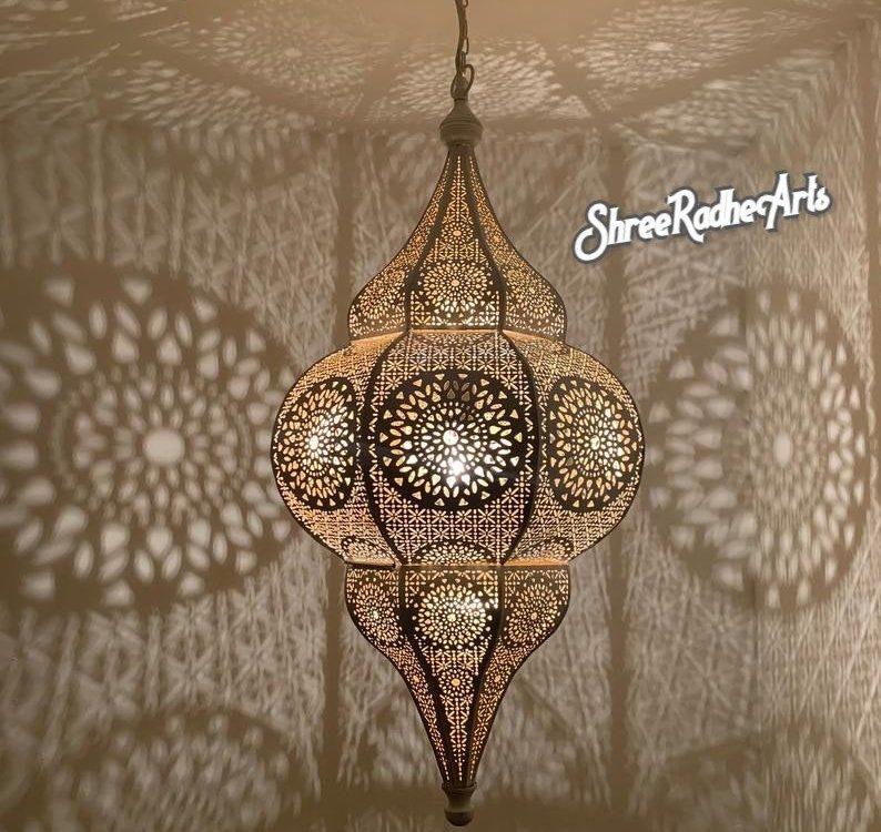 Moroccan Lamp - Moroccan Lantern - Moroccan Decor - Pendant Light - Moroccan Ceiling Light - Moroccan Pendant