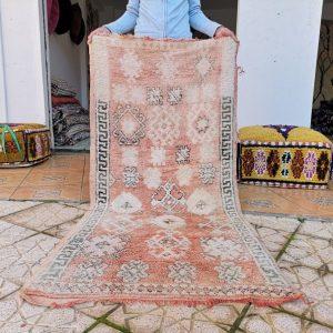 vintage Moroccan Rug boho rug handmade Boujad Rug Vintage rug 3 x 6 Ft