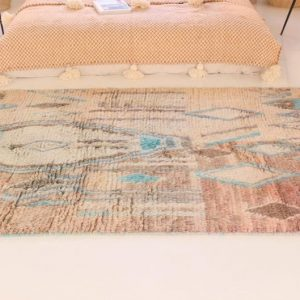 Free SHIPING vintage boujad rug 7.74ft x 4.92ft 236cm 152 cm