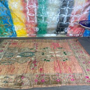 Vintage Boujad rug, Berber rug, Moroccan carpet, Colorful rug, Moroccan rug, unique rug 6X8,5 FT.