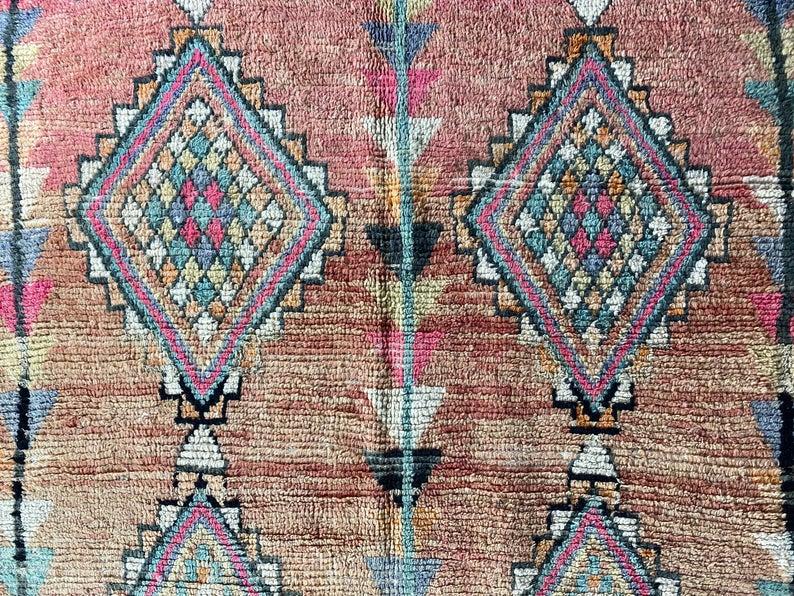 Vintage Boujad Rug • Antique Rug • Oushak Rug • Large Rug • Vintage Rug • Wool Rug • Area Rug • Boho Rug • Handmade Rug 5.6X11.2 FT.