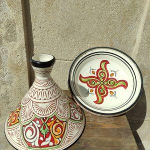 DHL Shipping -Beautiful Moroccan ceramic tagine/ hand-painted tagine/decorative tagine/service tagine/large Moroccan tagine