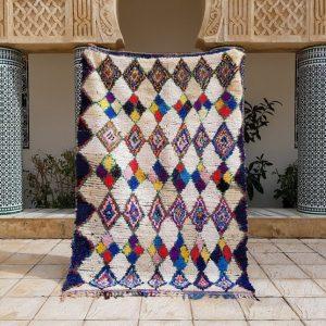 c boucherouite carpet, carpet azilal, Moroccan Vintage Boucherouite Rug 205x145 cm , Moroccan rug, Berber Rug