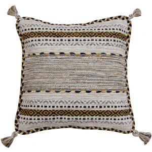 Beige Kilim Cushion Cover, Moroccan Pillow Cover, Neutral Boho Decor, 45 x 45cm cushion covers, Geometric Cushion, Bohemian Cushion Set