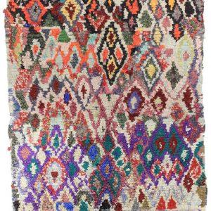 Moroccan Berber Rug - Boucherouit - 140 x 170 cm