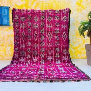 Moroccan Boujad rug 6.5 FT x 7.3 FT - Moroccan rug - vintage rug - Berber Carpet - Handmade Rug - Oriental Carpet - Berber Rug 6x7