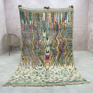 Moroccan Vintage Rug 5x8 Feet- Boujad Rugs, Berber Boujad Carpet, Authentic Boujad Rug, Moroccan Boujad Rugs, Berber Boujad Rug