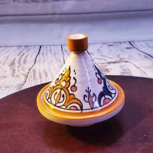 Small Vintage Moroccan Tajin, Mini Tagine, tagine pot in canada,Boho Bohemian Kitchen Accessory, Small Tagine, Home Decoration, Table Plate