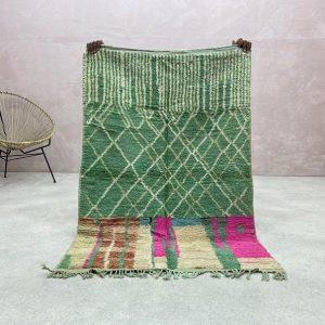 Berber Boujaad Rug - Vintage Boujad Rugs, Boujad Rug, Authentic Boujad Rug, Moroccan Boujad Rugs, 3.2 x 4.8 FT / 100 x 148 CM