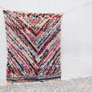 Boucherouite Rug, Moroccan Rug, Rag Rug