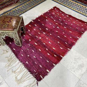 Unique Boucherouite Rug, Moroccan Berber rug, Soft Boucherouite Rug ( 110 x 162 Cm )