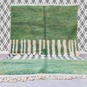 Costum Moroccan green Rug , Authentic Moroccan rug,Berber carpet, Genuine Wool rug, Handmade rug, Area rug, Tapis berbere,