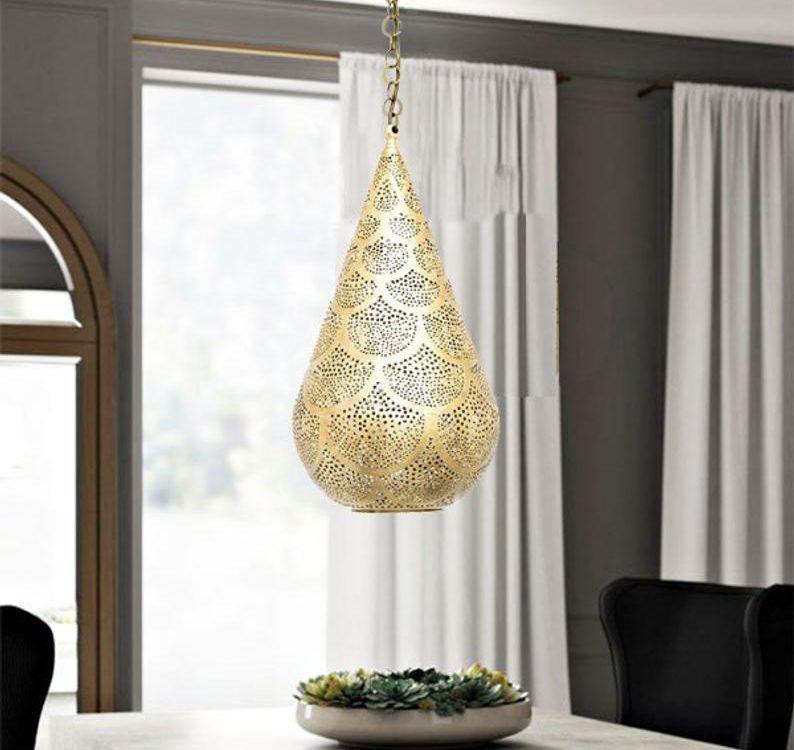 Gorgeous Moroccan Pendant Light, brass ceiling light, Pendant Chandelier Gold Handmade Engraved , Moroccan Light Fixture Lamp, housewarming