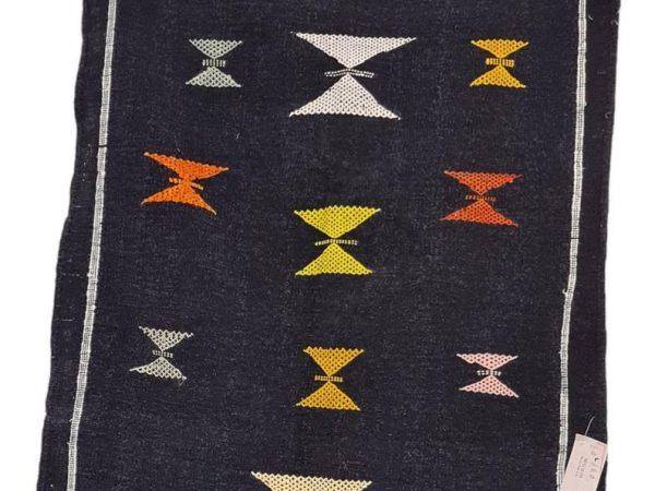 Moroccan Berber Cotton Kilim. Moroccan Berber Rug / Flat Weave Carpet 150cms x 100cms