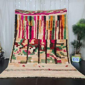 Abstract Moroccan rug, Moroccan Boujad Rug, Azilal rug, Handmade Authentic Carpet, Boujaad Moroccan Rug, Berber carpet, Bohemian rug