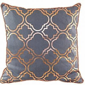 Copper Rose Gold pillow cover metallic grey vintage look cushion covers Moroccan