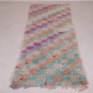 Moroccan rug 2.7 FT X 7.5 FT - Moroccan rug shag - Berber rug - Handmade rug - Moroccan shag rug - Free shipping - Boucherouite rug