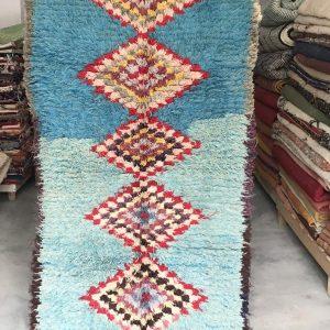 Berber Moroccan handwoven vintage boucherouite Rug