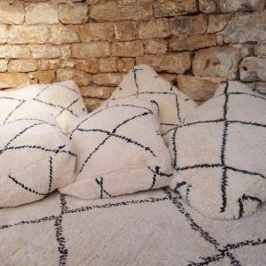 Moroccan Beni Ourain Floor Cushion BO4