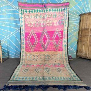 Exclusive Boujad Rug 5.8x11.7 - Vintage Morrocan Rug multi-color Rug, Large Moroccan Rug, Shag Rug, Art Deco Rug, Berber-Teppich