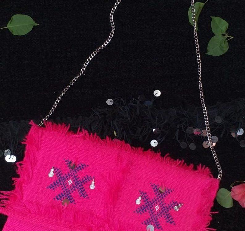 berber handbag, moroccan craft, broderie marocaine, gift idea, made to order