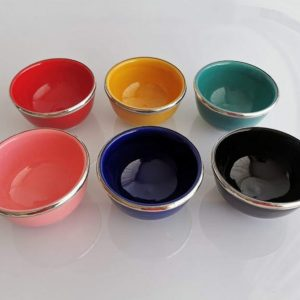 Moroccan 2 bowls in different colors - Pottery and Ceramics of Morocco