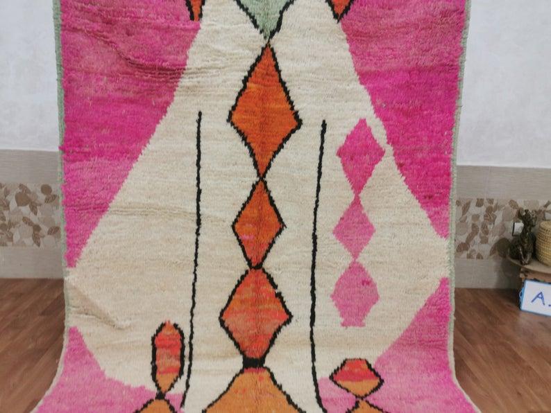5.51 x 9.22 feet Moroccan Nomad Rug - Amazing Moroccan Rug - Wool Rug - Berber Carpet - Bohemian Rug - Abstract Rug - Tapis Marocain