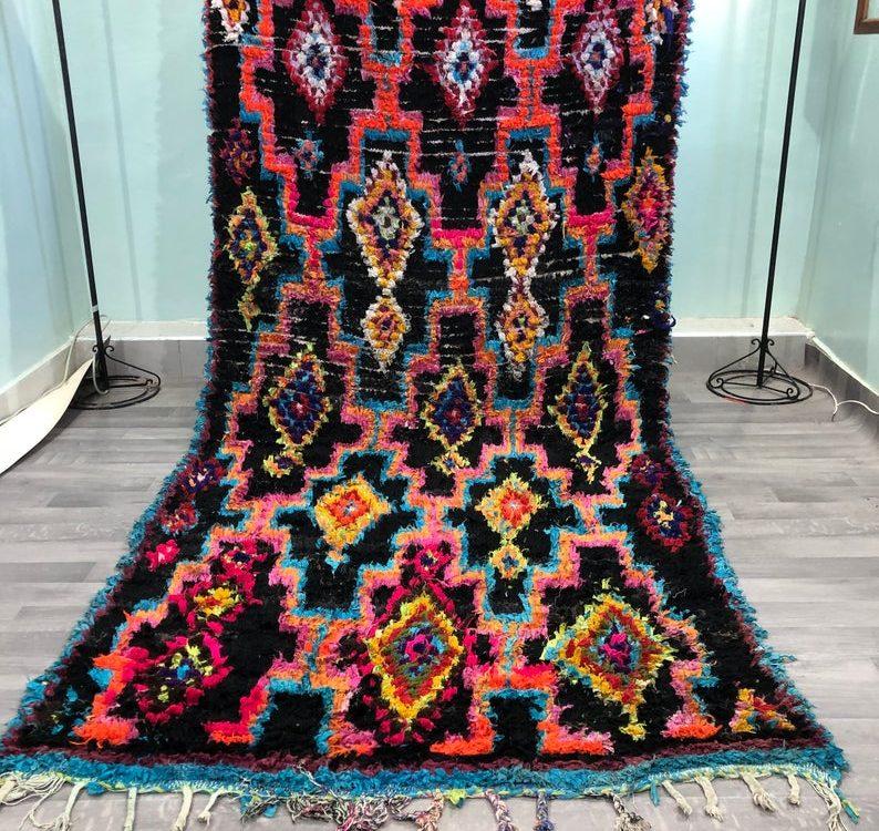 Moroccan Boucherouite Rug,Original Old Boucherouite Rug,Boucherouite Rug Cheap