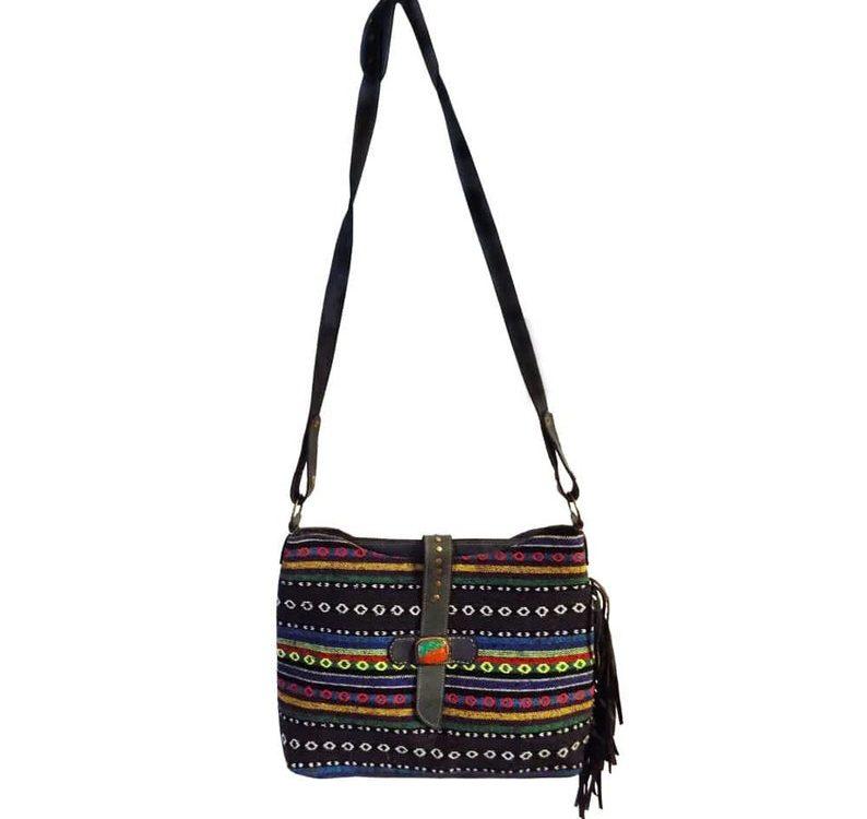 Luxury bag moroccan retro bucket bag women leather wide strap shoulder bag tote purse handbag with wallet for travel or leisure