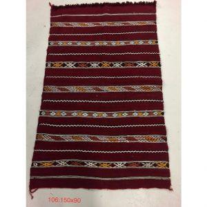 Vintage Moroccan Tribal Kilim Rug 150cm x 90cm