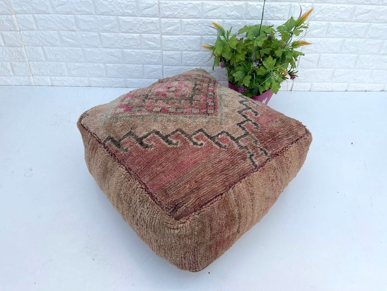 Moroccan Floor cushion-boujad floor pillow -Moroccan Berber Floor Pillow -Handmade floor cushion square- floor pillow cover -Floor Pillow