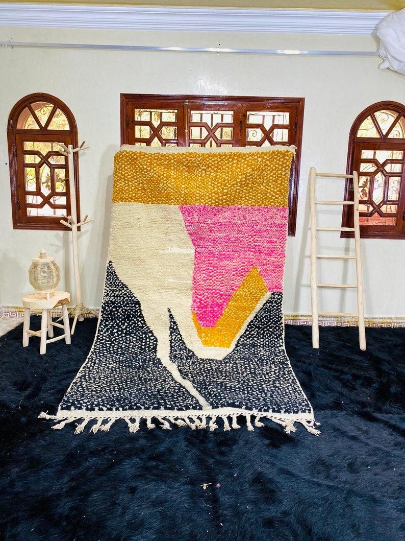 Colorful Moroccan rug, Moroccan Boujad Rug, Azilal rug, Patchwork Authentic Carpet, Handmade Moroccan Rug,Berber carpet, Bohemian rug